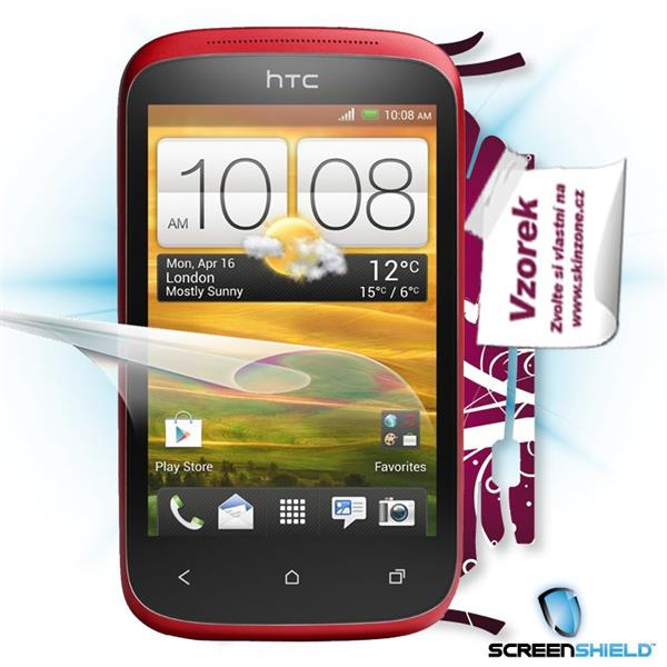 ScreenShield HTC Desire C - Film for display protection and voucher for decorative skin (including shipping fee to end c