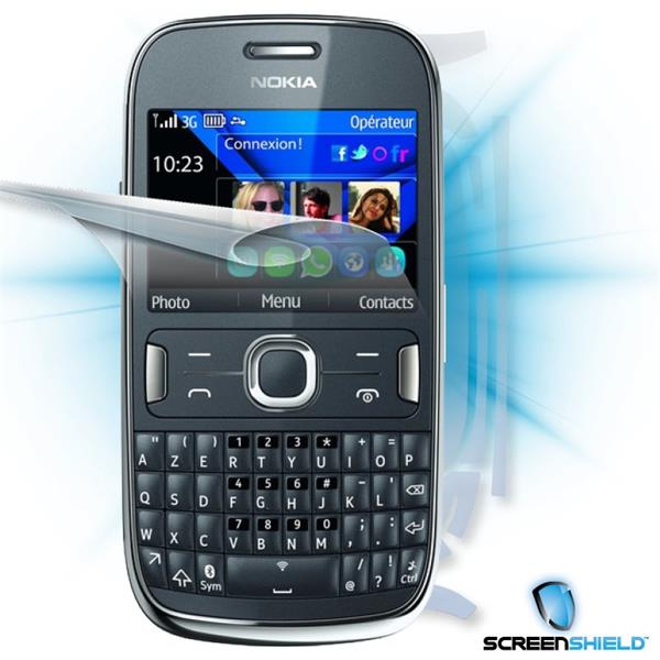 ScreenShield Nokia Asha 302 - Film for display + body protection