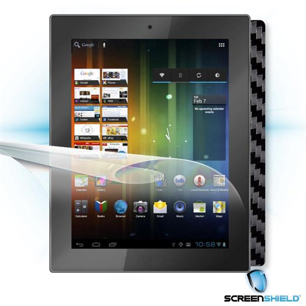 ScreenShield Prestigio MultiPad PMP 5097 - Films on display and carbon skin (black)
