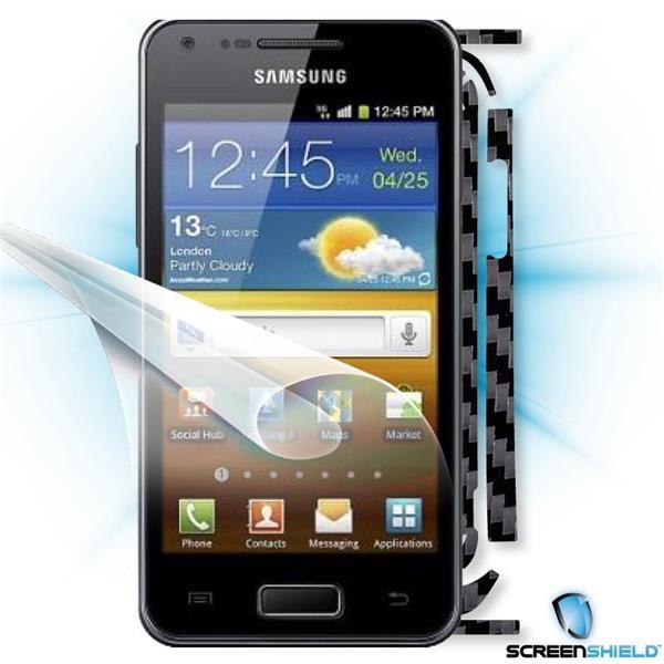 ScreenShield Samsung Galaxy S Advance i9070 - Films on display and carbon skin (black)