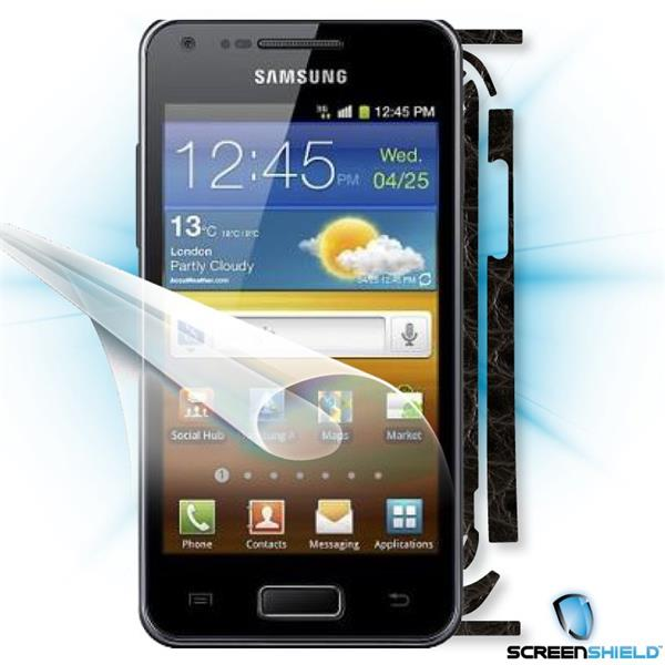 ScreenShield Samsung Galaxy S Advance i9070 - Films on display and carbon skin (leather)