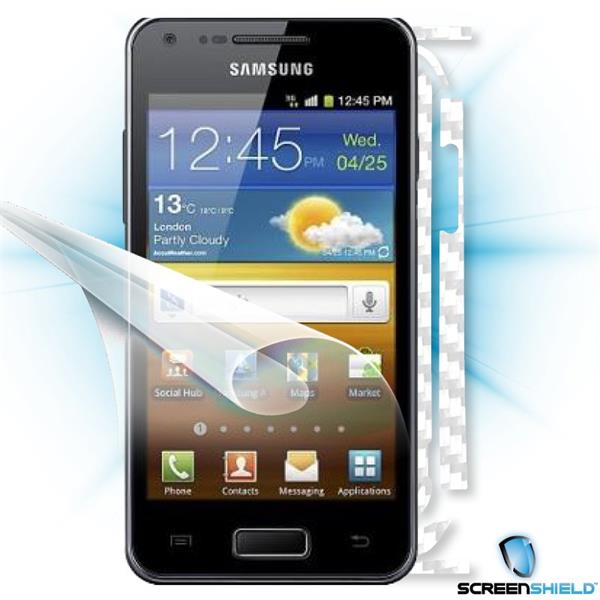 ScreenShield Samsung Galaxy S Advance i9070 - Films on display and carbon skin (white)