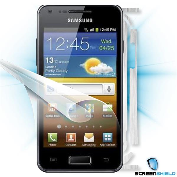 ScreenShield Samsung Galaxy S Advance i9070 - Films on display and carbon skin (silver)