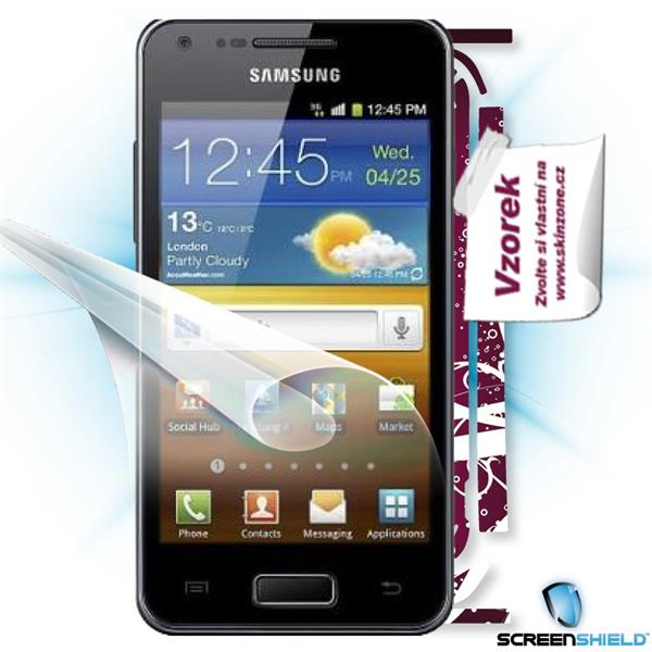 ScreenShield Samsung Galaxy S Advance i9070 - Film for display protection and voucher for decorative skin (including shi