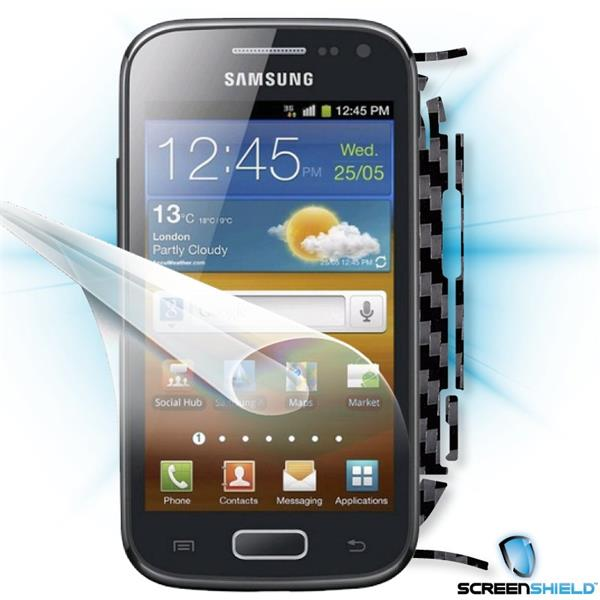 ScreenShield Samsung Galaxy ACE 2 i8160 - Films on display and carbon skin (black)