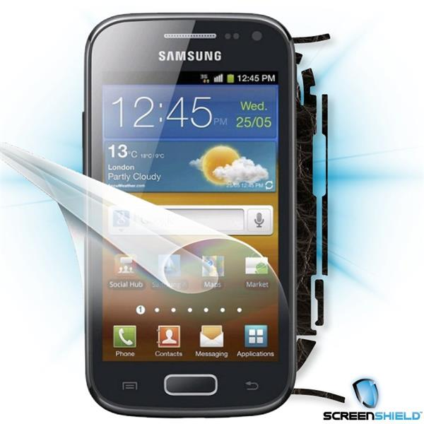 ScreenShield Samsung Galaxy ACE 2 i8160 - Films on display and carbon skin (leather)
