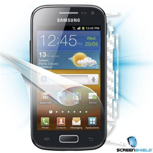 ScreenShield Samsung Galaxy ACE 2 i8160 - Films on display and carbon skin (white)