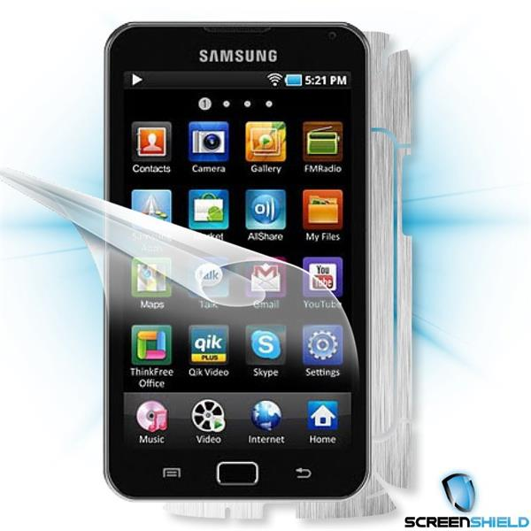ScreenShield Samsung Galaxy S wifi 5.0 YPG70 - Films on display and carbon skin (silver)