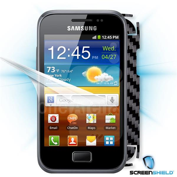 ScreenShield Samsung Galaxy Ace Plus S7500 - Films on display and carbon skin (black)