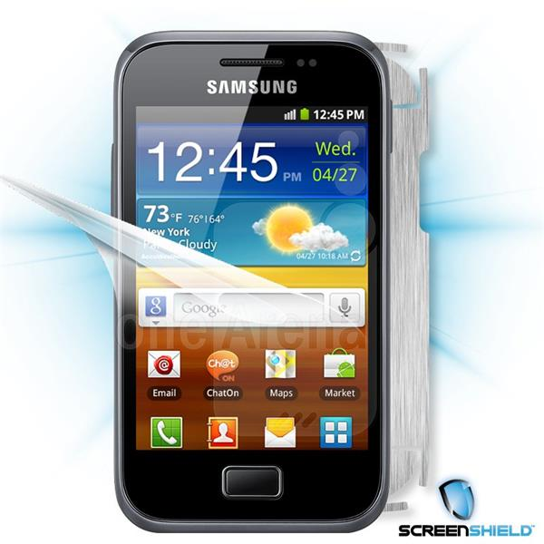 ScreenShield Samsung Galaxy Ace Plus S7500 - Films on display and carbon skin (silver)