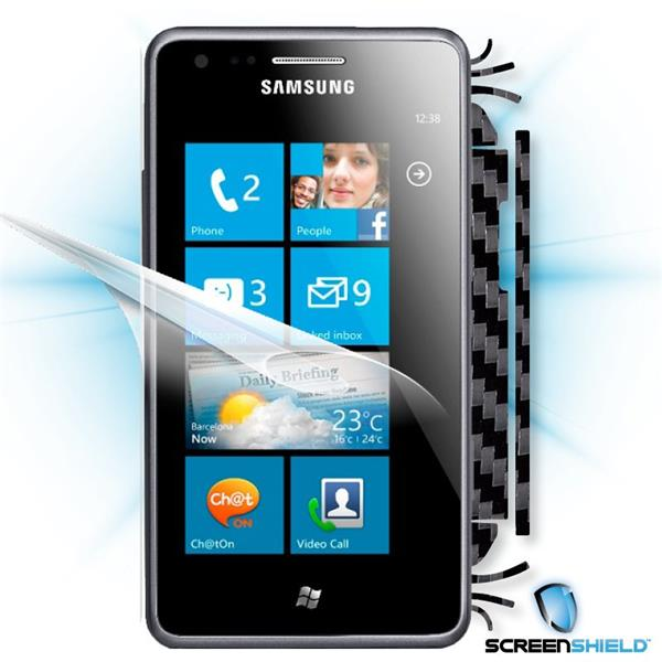 ScreenShield Samsung Omnia M S7530 - Films on display and carbon skin (black)