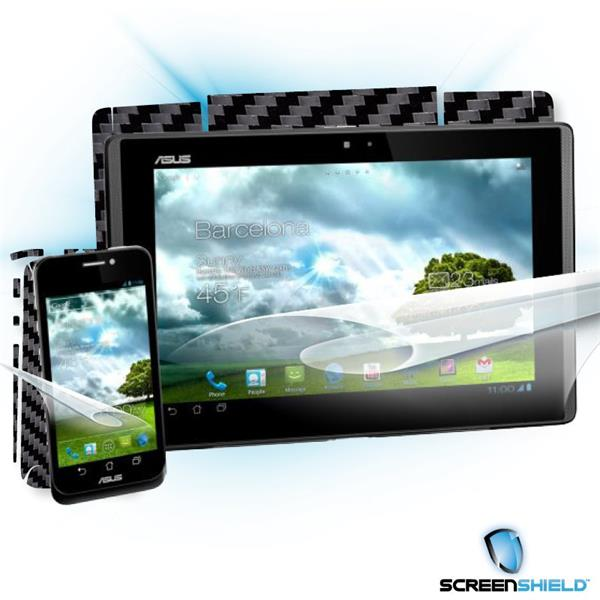 ScreenShield Asus PadFone - Films on display and carbon skin (black)