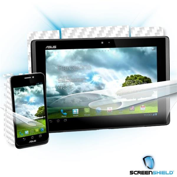 ScreenShield Asus PadFone - Films on display and carbon skin (white)