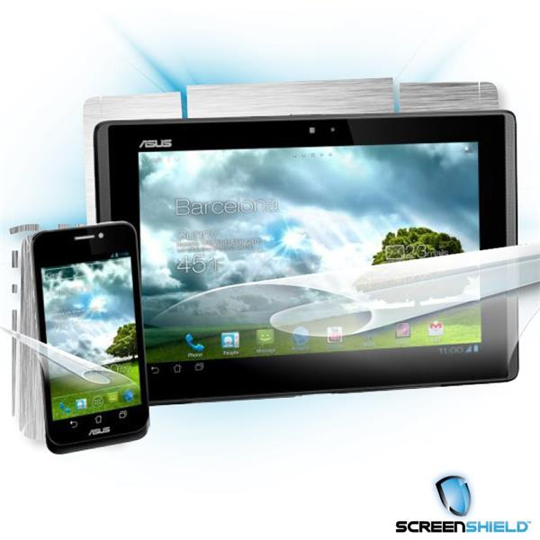 ScreenShield Asus PadFone - Films on display and carbon skin (silver)
