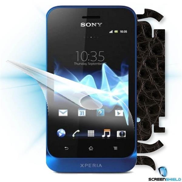 ScreenShield Sony Xperia Tipo - Films on display and carbon skin (leather)