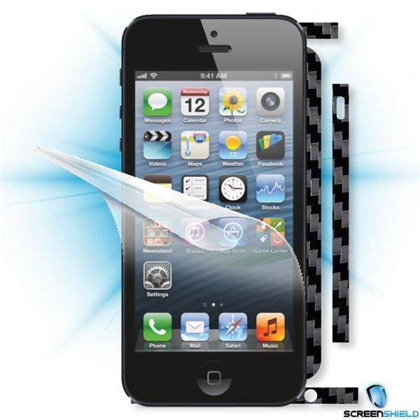ScreenShield iPhone 5 - Films on display and carbon skin (black)