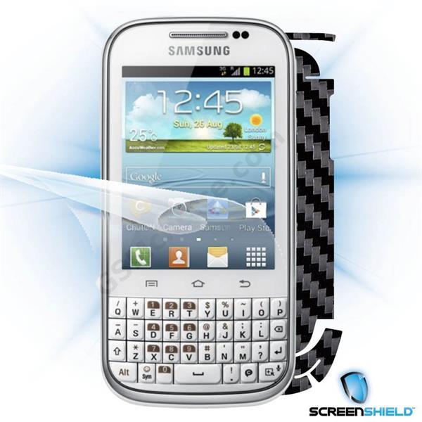 ScreenShield Samsung Galaxy Ch@t B5330 - Films on display and carbon skin (black)