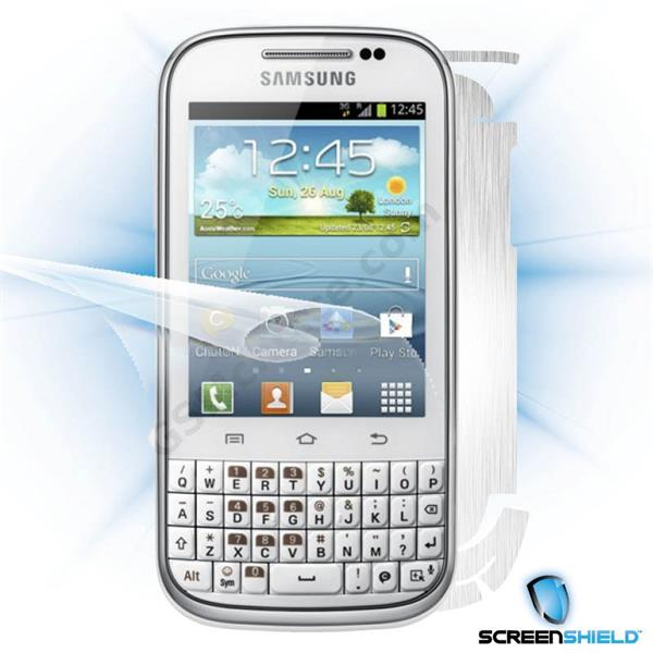 ScreenShield Samsung Galaxy Ch@t B5330 - Films on display and carbon skin (silver)