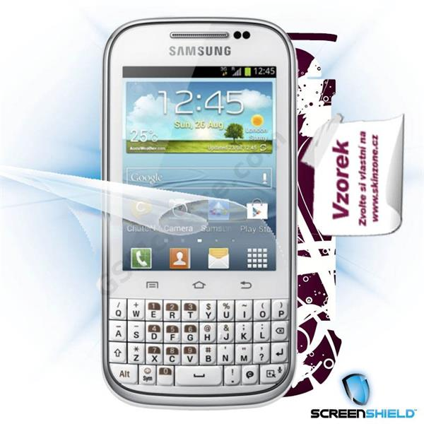 ScreenShield Samsung Galaxy Ch@t B5330 - Film for display protection and voucher for decorative skin (including shipping