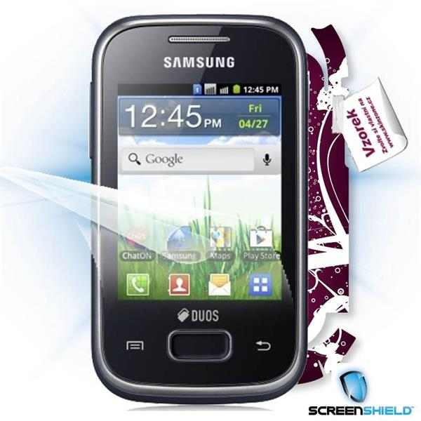 ScreenShield Samsung Galaxy Pocket Duos S5302 - Film for display protection and voucher for decorative skin (including s