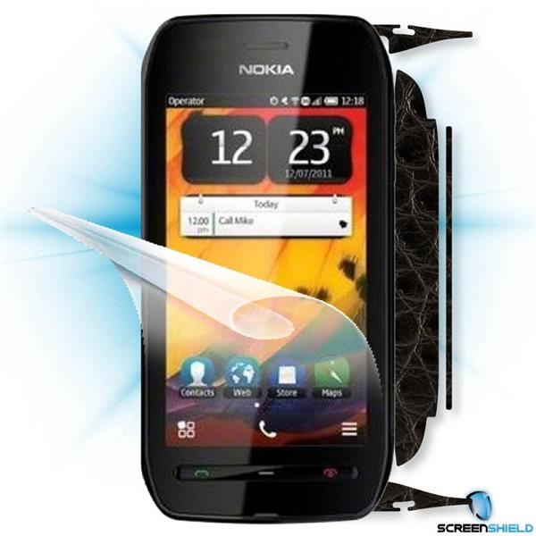 ScreenShield Nokia 603 - Films on display and carbon skin (leather)