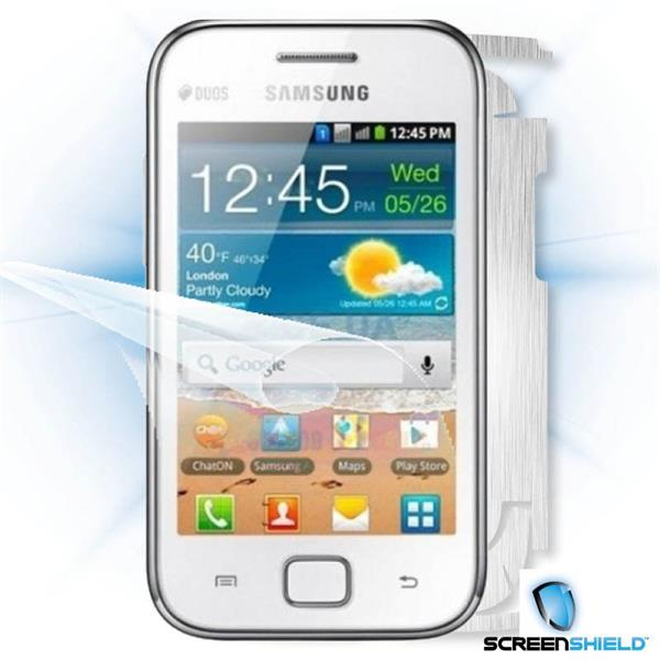ScreenShield Samsung Galaxy Ace DUOS S6802 - Films on display and carbon skin (silver)