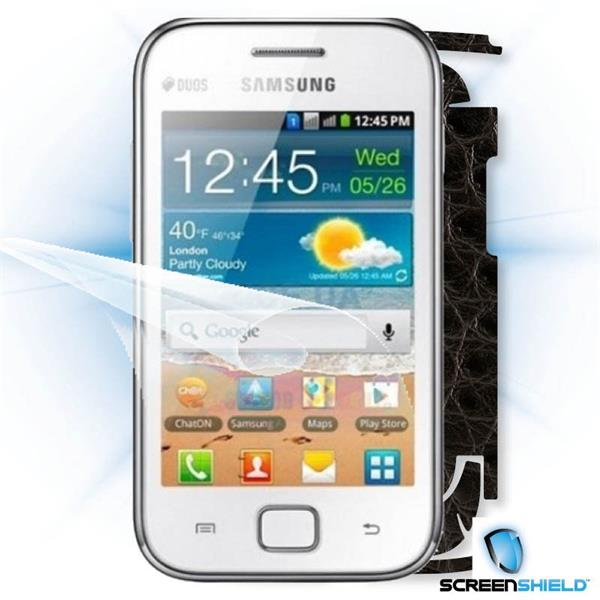 ScreenShield Samsung Galaxy Ace DUOS S6802 - Films on display and carbon skin (leather)