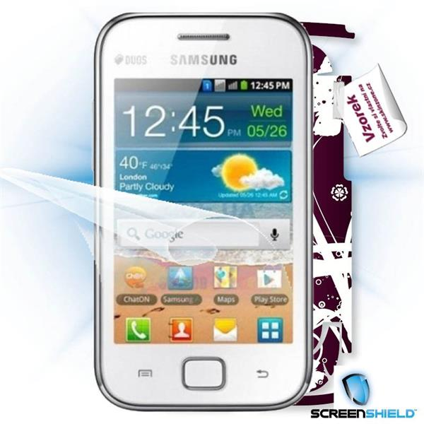 ScreenShield Samsung Galaxy Ace DUOS S6802 - Film for display protection and voucher for decorative skin (including ship