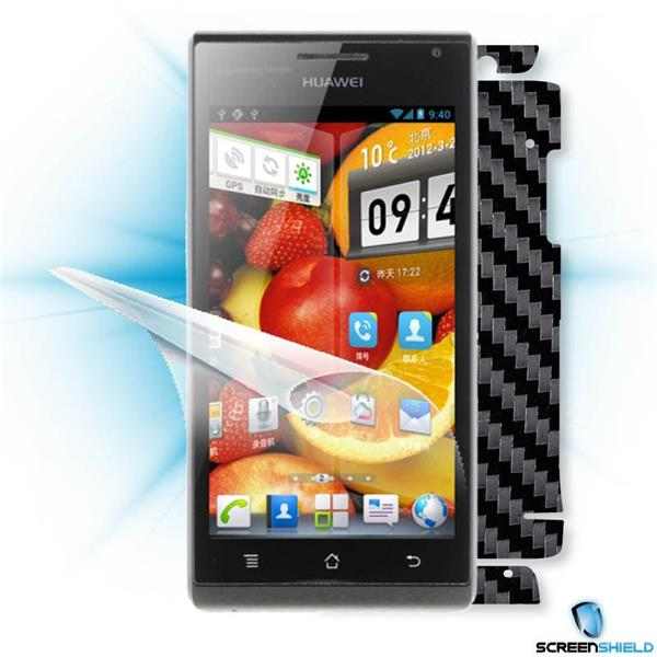 ScreenShield Huawei Ascend P1 U9200 - Films on display and carbon skin (black)