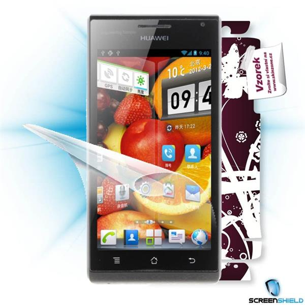 ScreenShield Huawei Ascend P1 U9200 - Film for display protection and voucher for decorative skin (including shipping fe