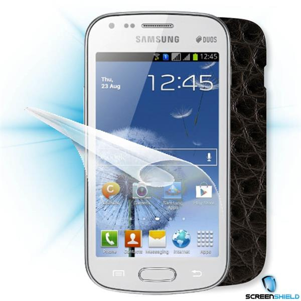 ScreenShield Samsung Galaxy S DUOS S7562 - Films on display and carbon skin (leather)
