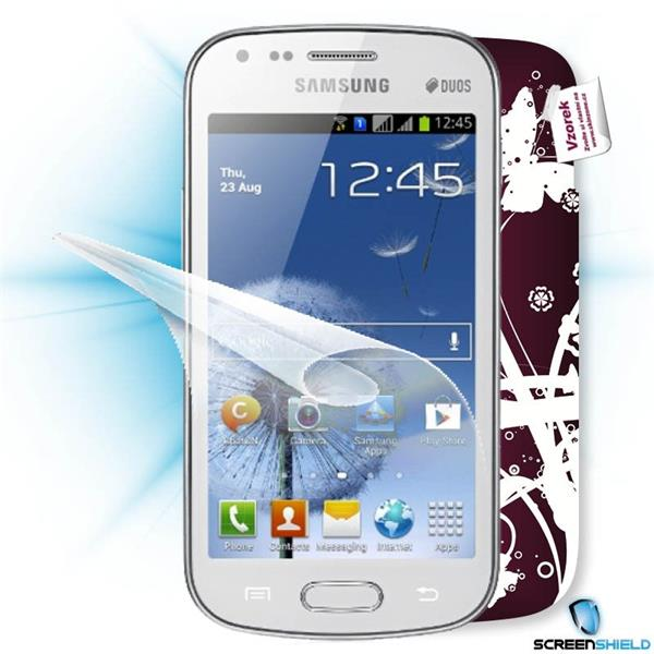 ScreenShield Samsung Galaxy S DUOS S7562 - Film for display protection and voucher for decorative skin (including shippi