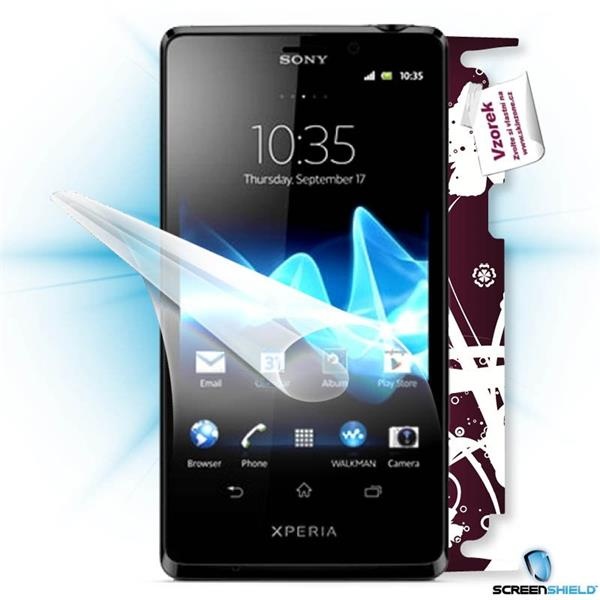 ScreenShield Sony Xperia T - Film for display protection and voucher for decorative skin (including shipping fee to end