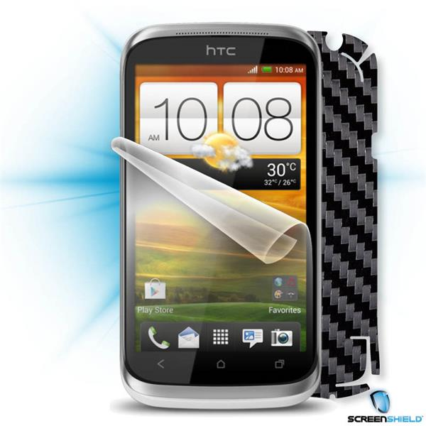 ScreenShield HTC Desire X - Films on display and carbon skin (black)