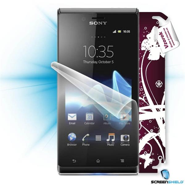 ScreenShield Sony Xperia J - Film for display protection and voucher for decorative skin (including shipping fee to end