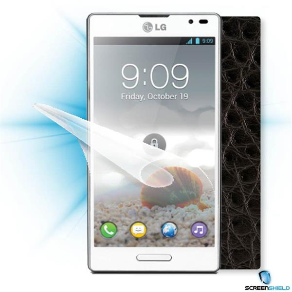 ScreenShield LG T3 P760 - Films on display and carbon skin (leather)