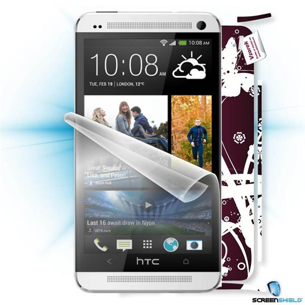 ScreenShield HTC ONE - Film for display protection and voucher for decorative skin (including shipping fee to end custom