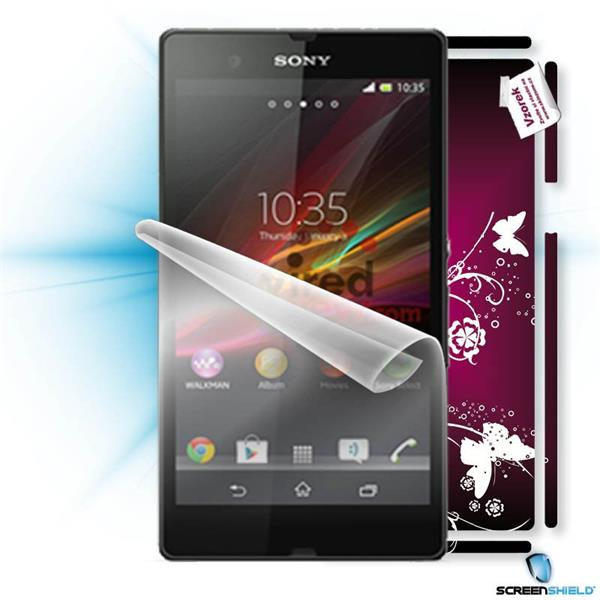 ScreenShield Sony Xperia Z - Film for display protection and voucher for decorative skin (including shipping fee to end