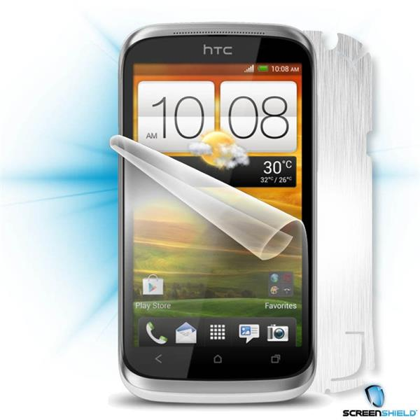 ScreenShield HTC Desire X - Films on display and carbon skin (silver)