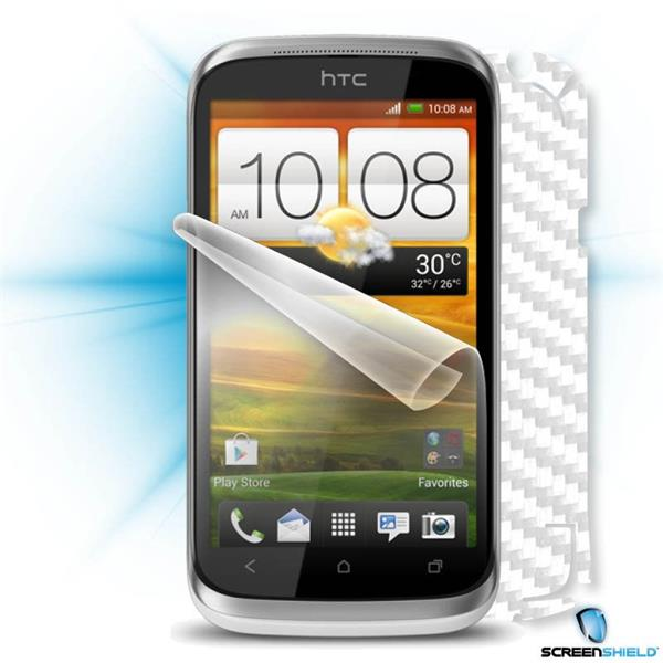 ScreenShield HTC Desire X - Films on display and carbon skin (white)