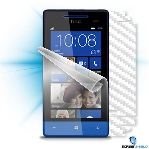 ScreenShield HTC 8S - Films on display and carbon skin (white)
