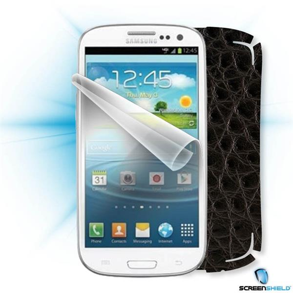ScreenShield Samsung Galaxy S3 mini i8190 - Films on display and carbon skin (leather)