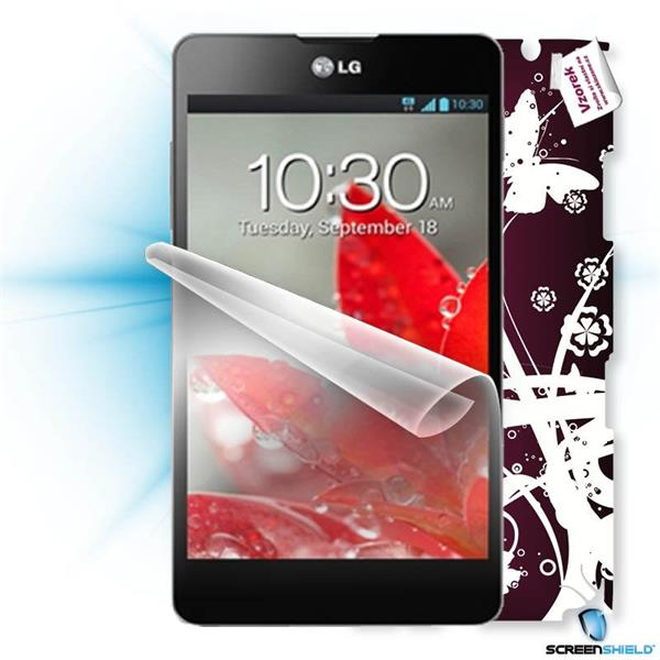 ScreenShield LG Optimus G E975 - Film for display protection and voucher for decorative skin (including shipping fee to