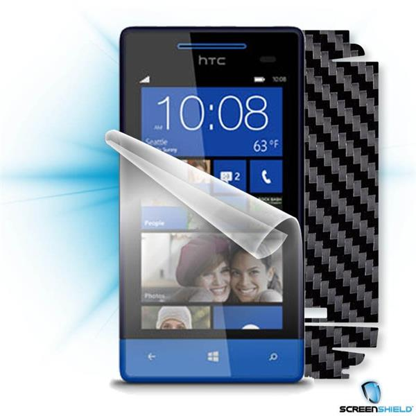 ScreenShield HTC 8S - Films on display and carbon skin (black)