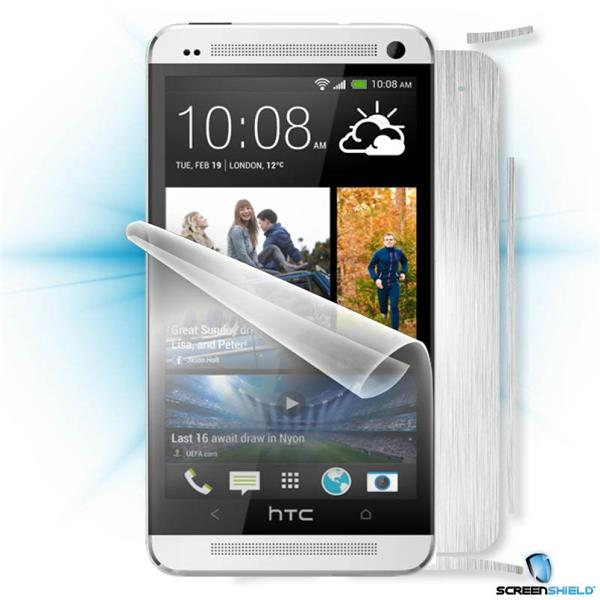 ScreenShield HTC ONE - Films on display and carbon skin (silver)