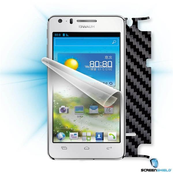 ScreenShield Huawei Ascend G600 - Films on display and carbon skin (black)