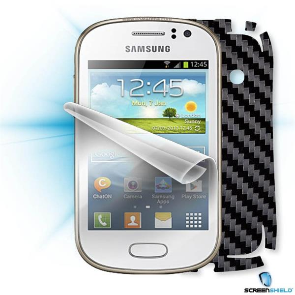 ScreenShield Samsung Galaxy Fame S6810 - Films on display and carbon skin (black)