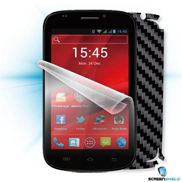 ScreenShield Prestigio PAP 5000 DUO - Films on display and carbon skin (black)