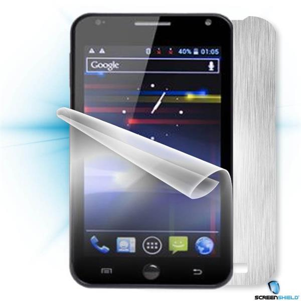 ScreenShield GoClever Fone 500 - Films on display and carbon skin (silver)