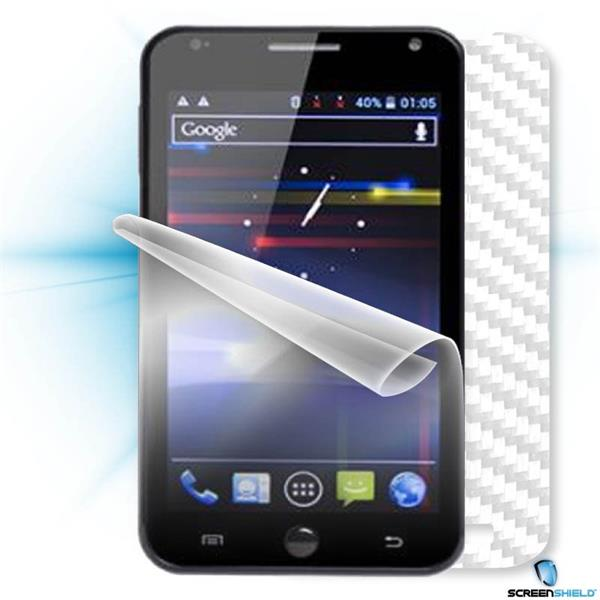 ScreenShield GoClever Fone 500 - Films on display and carbon skin (white)